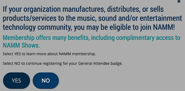 Registering for The NAMM Show With A Promo Code | NAMM org