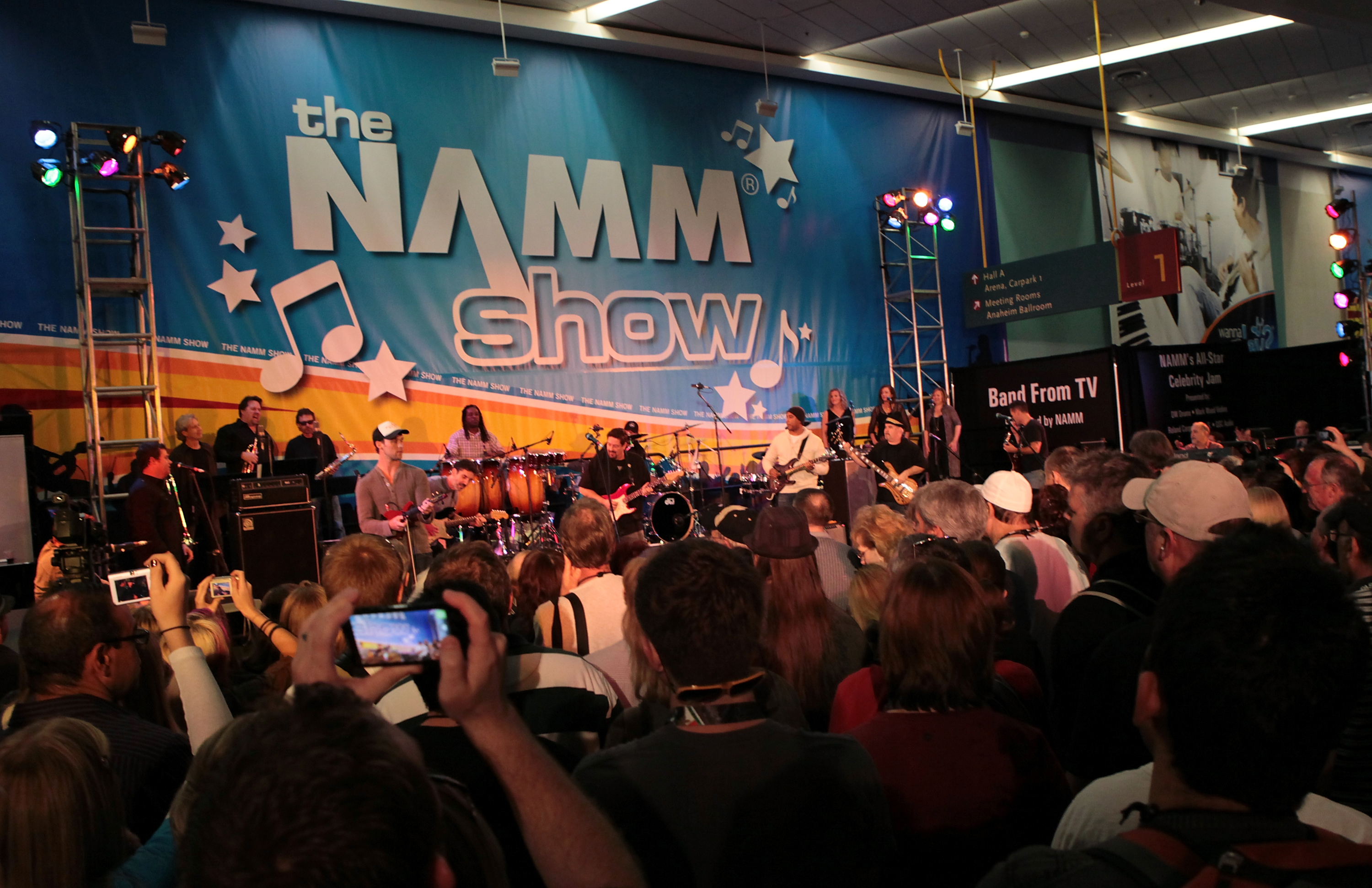 Trade Show Booth With Tv : Band from tv to headline the namm show s celebrity jam