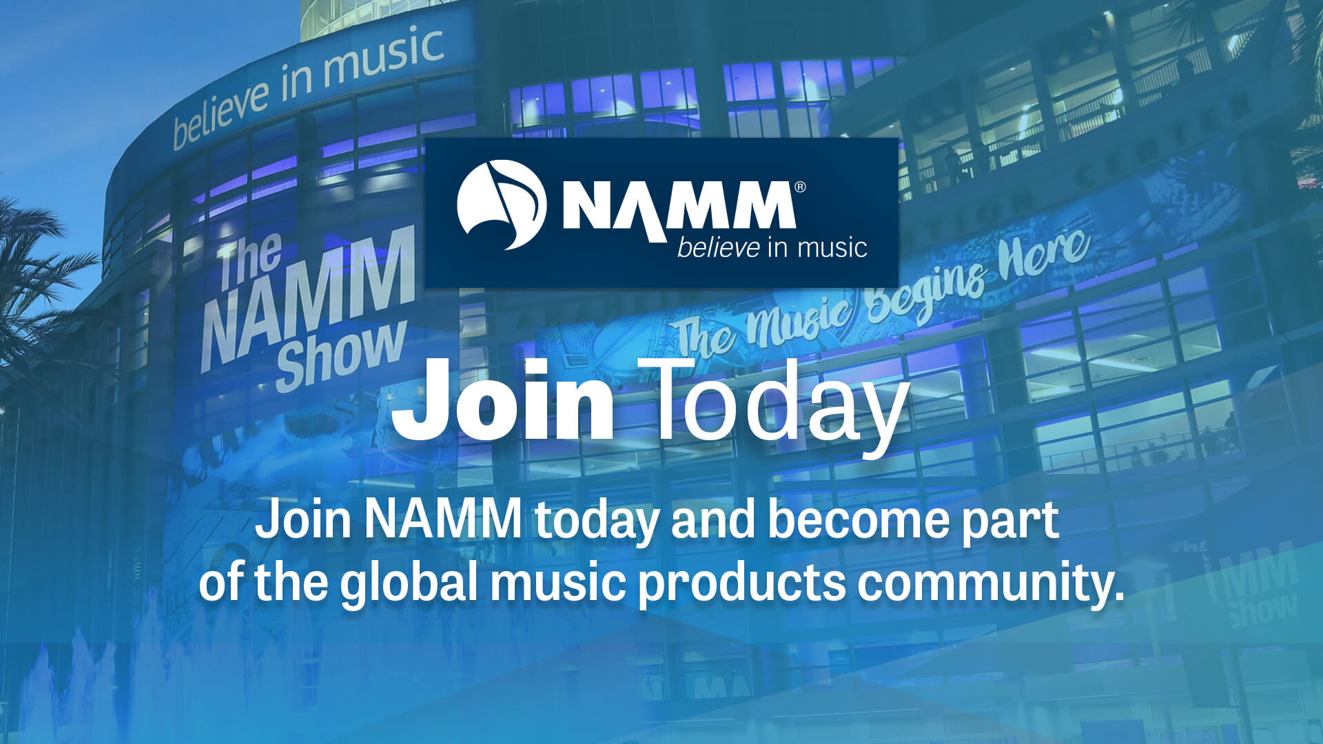 Join Today - Join NAMM today and become part of the global music products community