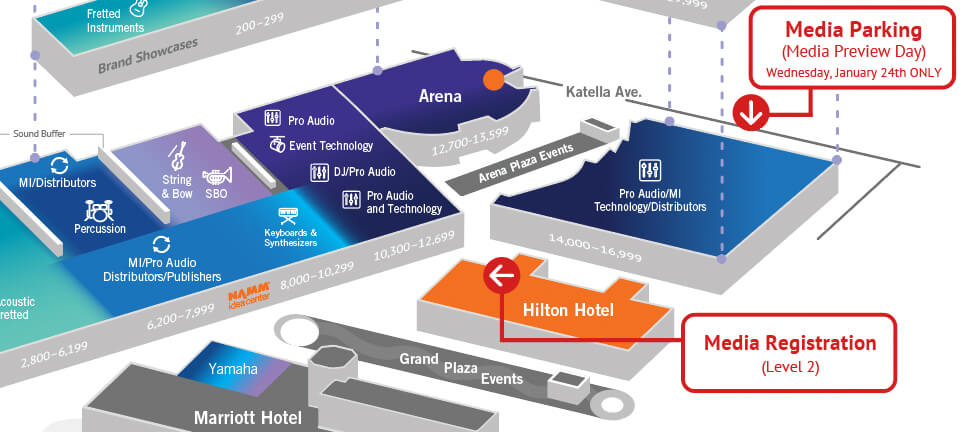 The Nammshow 2018 Media Map