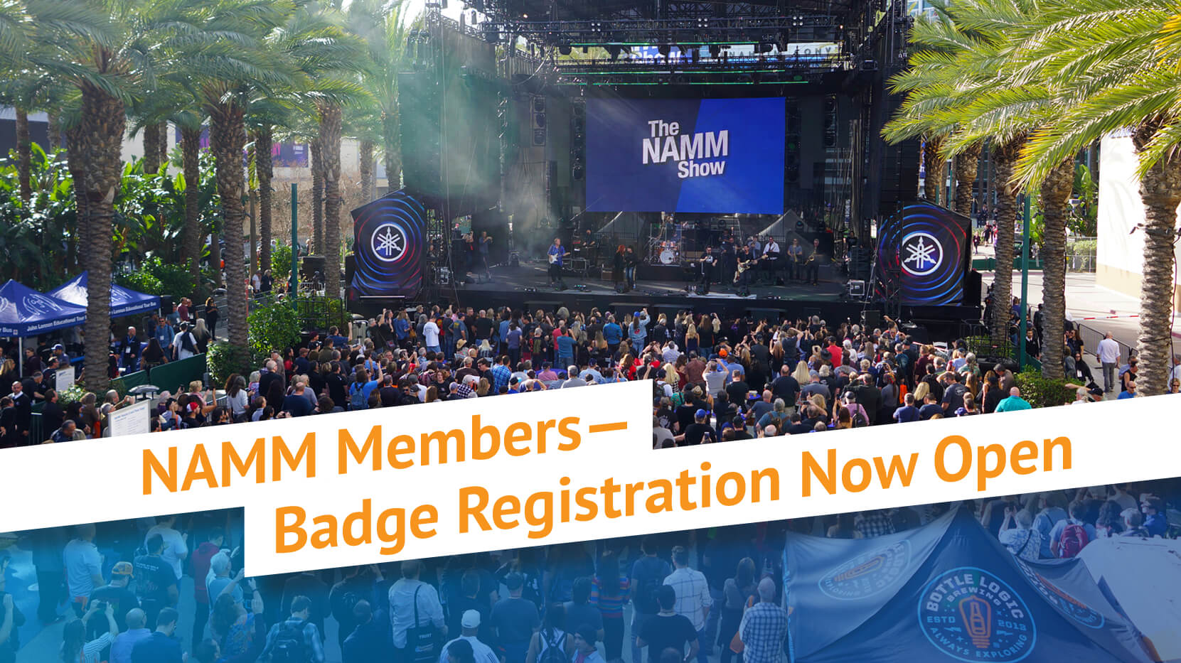 The 2020 NAMM Show badge registration is now open for NAMM Members.