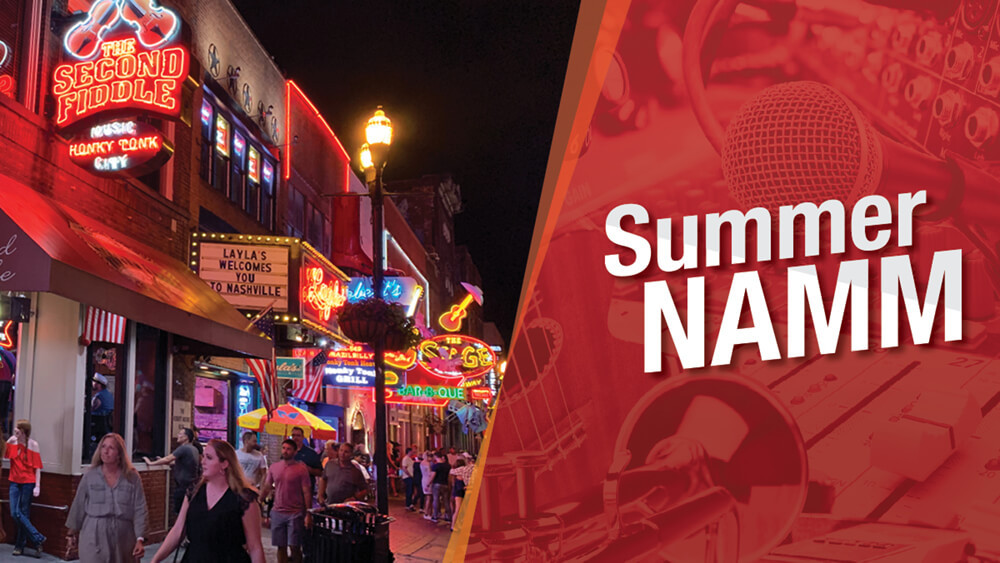 Summer NAMM at the Music City Center in Nashville, TN