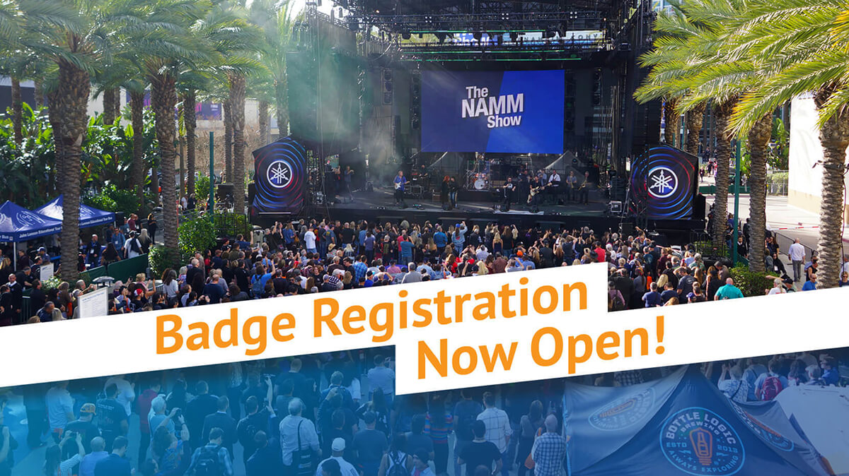 The 2020 NAMM Show badge registration is now open.