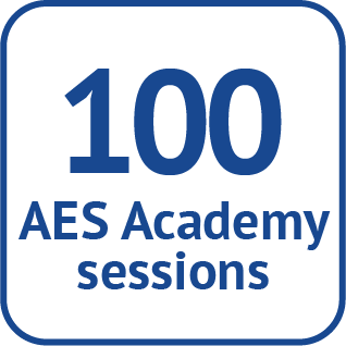 100 AES Academy sessions