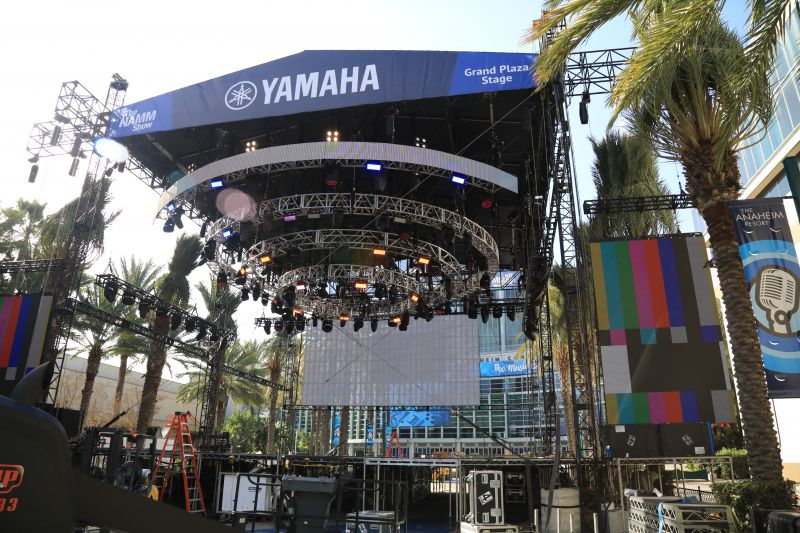 The NAMM Yamaha Grand Plaza Stage