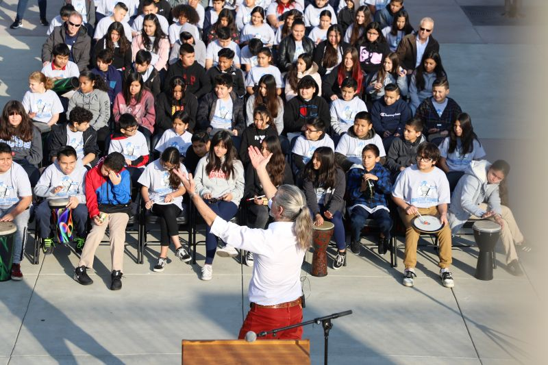 The NAMM Foundation Day of Service at Horace Mann Elementary School
