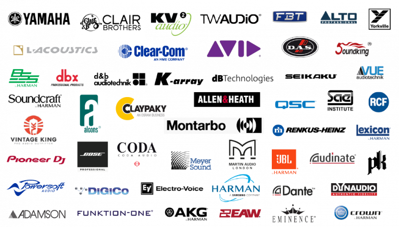 Some of the sound exhibitors that will be at The 2020 NAMM Show
