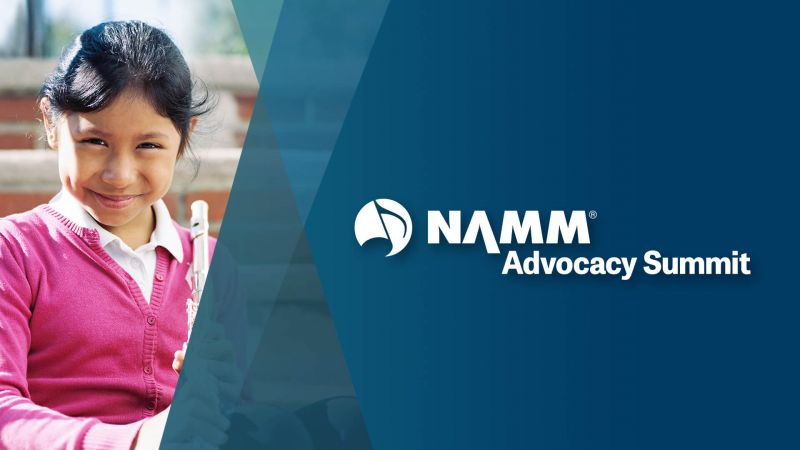 NAMM Advocacy summit young girl playing the flute