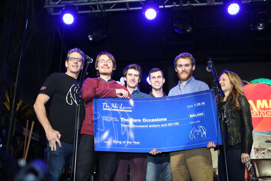 John Lennon Songwriting Contest winners (Photo by NAMM Staff)