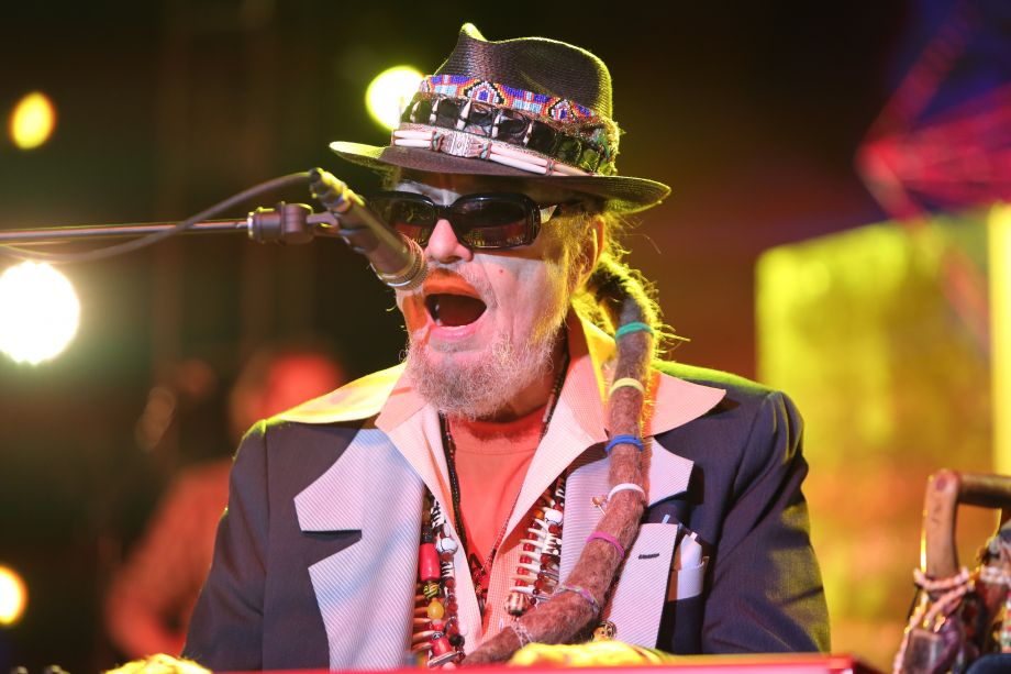 Dr. John performs on the Grand Plaza (Photo by NAMM Staff)