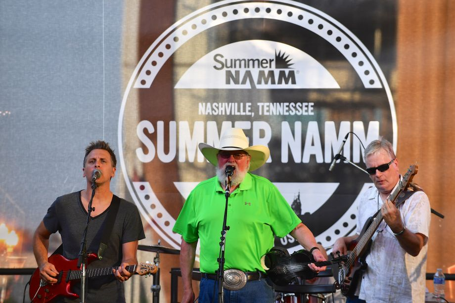 The Charlie Daniels Band performs outside at the NAMM Nissan Stage on The Terrace (Photo by Jason Davis/Getty Images for NAMM)