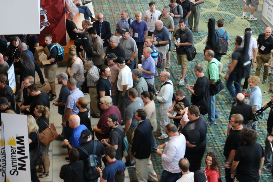 The Summer NAMM show floor doors opened at 10 am today!