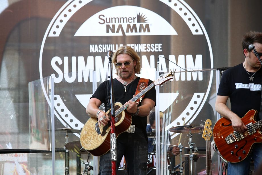Craig Wayne Boyd rocks out on the NAMM Nissan Stage on The Terrace on Saturday.