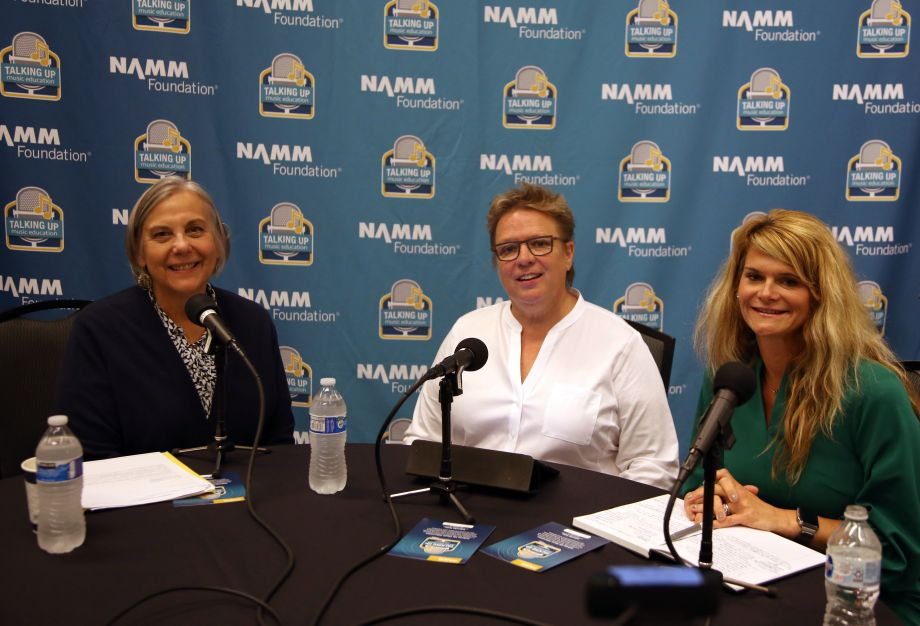 Mary Luehrsen, Robin Walenta and Dede Heid on the TalkingUp Music Education podcast