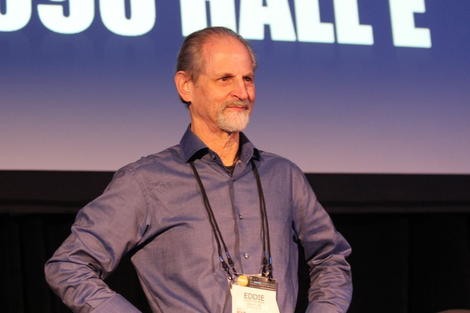 Mater of Recording Eddie Kramer kicks of TEC Tracks (Photo by NAMM Staff)