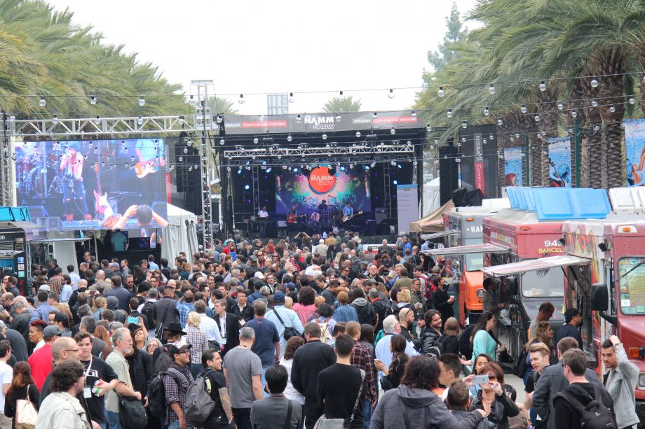 Food trucks and performances are just part of the fun (Photo by NAMM Staff)