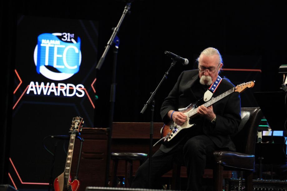 Jeff 'Skunk' Baxter jams at the 31st Annual NAMM TEC Awards (Photo by Stuart Robertson, NAMM Staff)