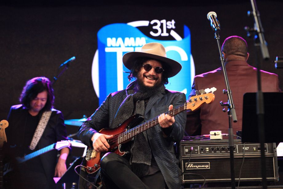 Les Paul Award recipient Don Was leads the finale jam at the 31st Annual NAMM TEC Awards (Photo by Stuart Robertson, NAMM Staff)