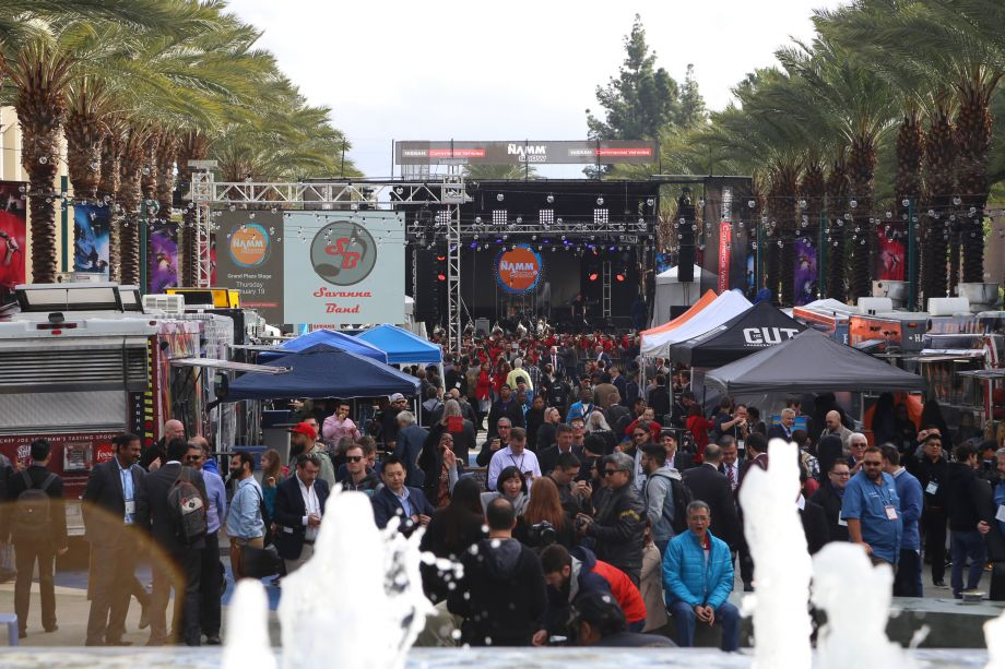 The NAMM Nissan Grand Plaza offers food trucks, a beer garden and lively entertainment