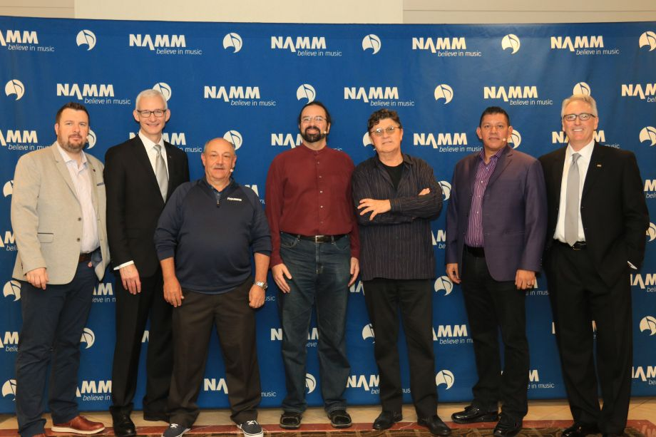 NAMM U Breakfast of Champions panel with NAMM Chair Mark Goff and NAMM President and CEO Joe Lamond