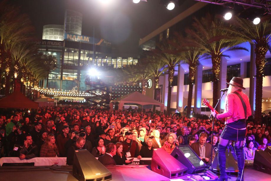 RSO: Richie Sambora + Orianthi give a stellar rock performance on The NAMM Nissan Grand Plaza Stage Thursday evening