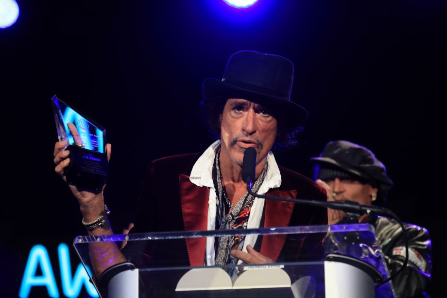 Joe Perry of Aerosmith receives the coveted Les Paul Award