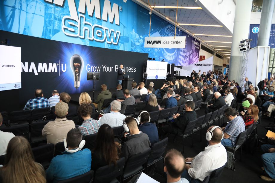 The NAMM U Idea Center offers relevant industry education every hour.