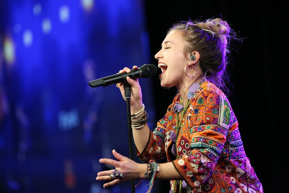 Lauren Daigle performs at the 9th Annual Yamaha Night of Worship concert