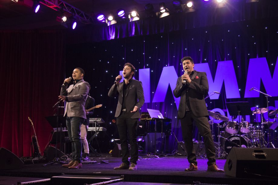 Forte Tenors perform at the Grand Rally