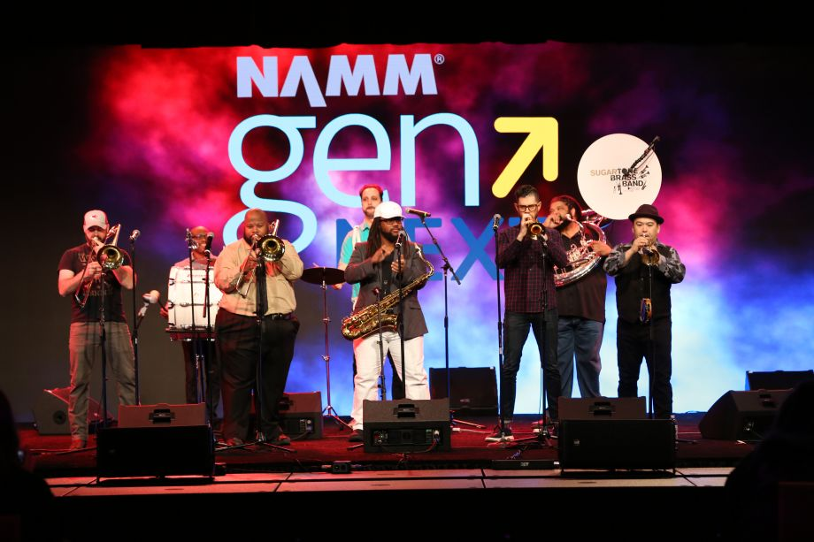 Sugartone Brass Band performing at the College Music Society-GenNext Plenary.