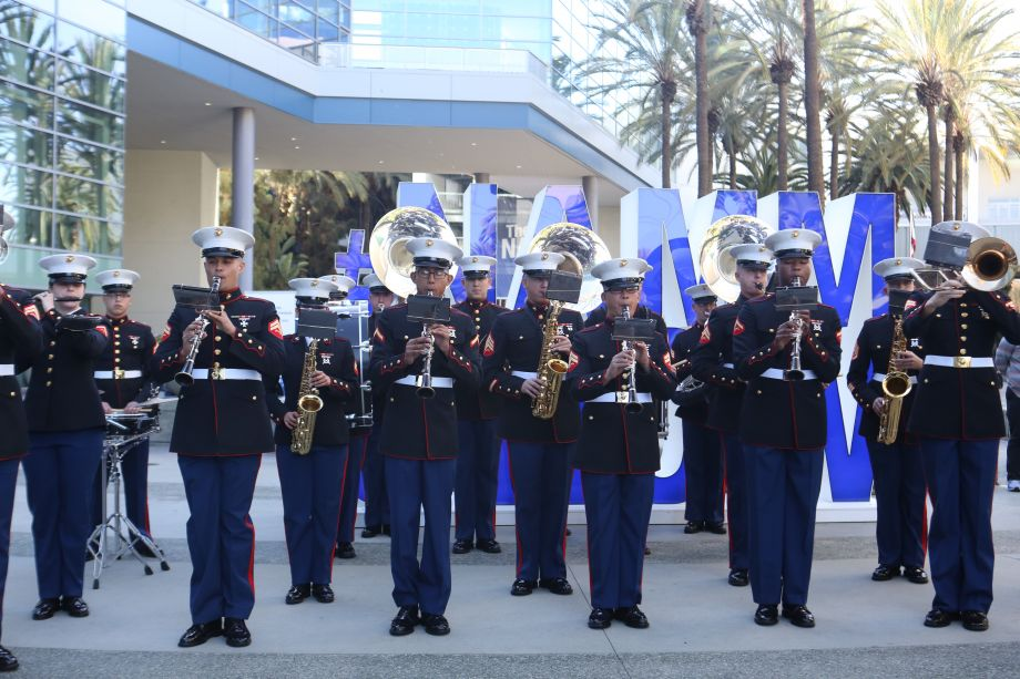 Show opening with Marine Band San Diego.