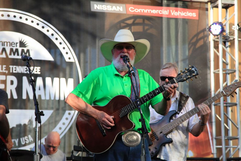 Charlie Daniels gave a legendary performance on The Terrace at NAMM's opening night party.