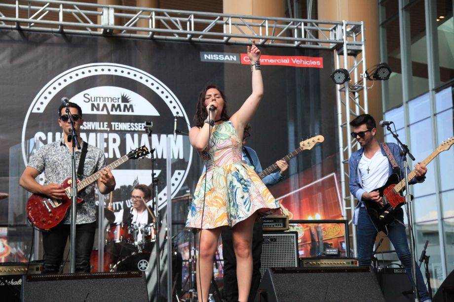 Taylor Tote Band on the NAMM Nissan stage on The Terrace