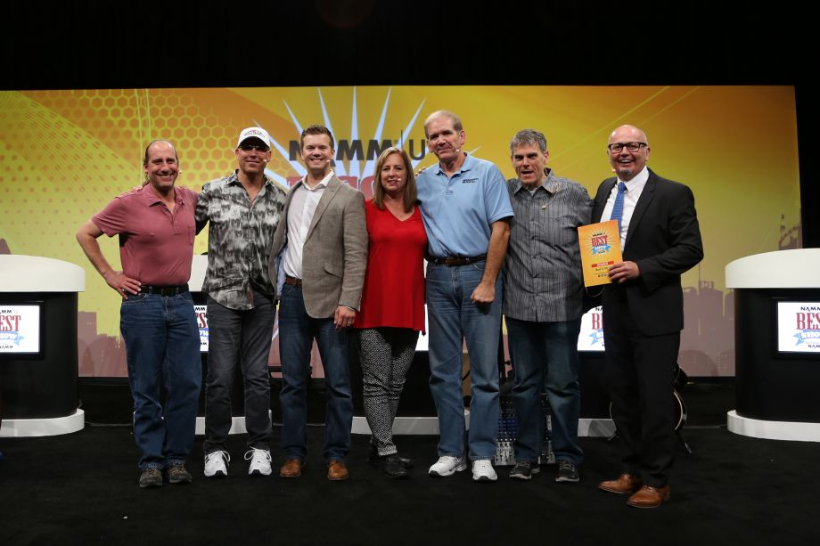 The Best in Show panel, from left to right, Rand Cook, Sammy Ash, Tim Spicer, Leslie Faltin, Mike Guillot, Tim Pratt and Frank Alkyer