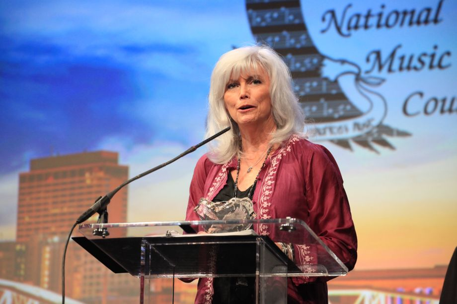 EmmyLou Harris honored by the National Music Council at The American Eagle Awards on Saturday.