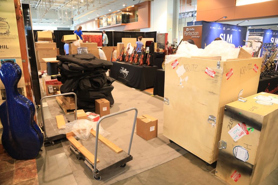 Exhibitors arrive and set up for 2017 Summer NAMM.