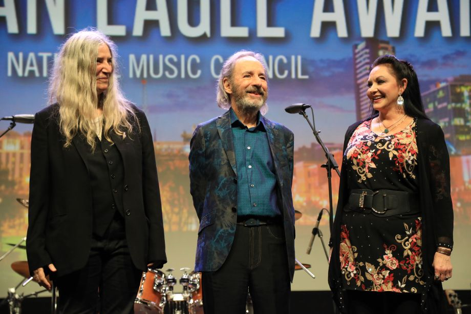 Patti Smith, Harry Shearer and Crystal Gayle were honored at the 34th Annual American Eagle Awards Thursday evening at Summer NAMM.