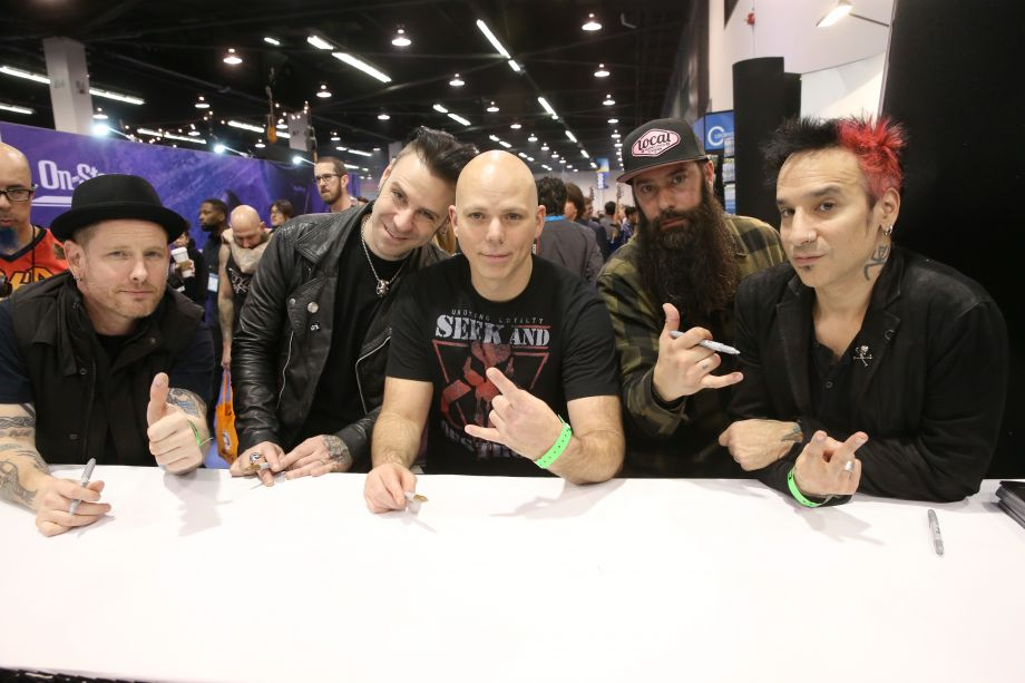 Members of Stone Sour attend the show on Saturday (Photo by Jesse Grant/Getty Images for NAMM)
