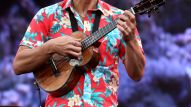 Composer Jake Shimabukuro performs on stage at at the 2016 NAMM Show Opening Day at the Anaheim Convention Center on January 21, 2016 in Anaheim, California. (Photo by Jesse Grant/Getty Images for NAMM)