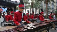 Anaheim's own Savanna High School Marching Band (Photo by NAMM Staff)