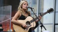Savannah Keyes performs original songs on the NAMM Nissan stage on The Terrace