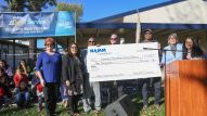 The NAMM Foundation Day presents check to Anaheim Elementary School District in support of education.