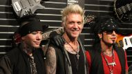 DJ Ashba, James Michael and Nikki Sixx (Photo by NAMM Staff)