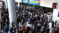 Attendees flood the Anaheim Convention Center as the doors open for The 2017 NAMM Show