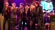 Members of the Hollywood Vampires including Johnny Depp, Joe Perry and Alice Cooper