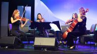Opening performance by the Orchid Quartet at Breakfast of Champions