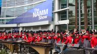 Savanna Marching Band opens The 2018 NAMM Show