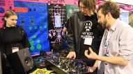Buyers check out the latest music and sound gear on the first day of the show.