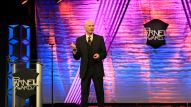 Tony Levin, legendary bassist for Peter Gabriel, presents at the Parnelli Awards