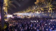 NAMM attendees were entertained nightly on the Grand Plaza